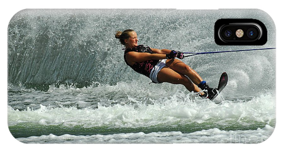 Water Skiing IPhone X Case featuring the photograph Water Skiing Magic Of Water 2 by Bob Christopher