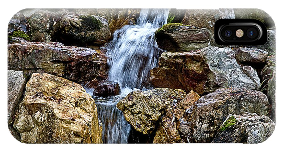 IPhone X Case featuring the photograph Waterfall 2 by Burney Lieberman