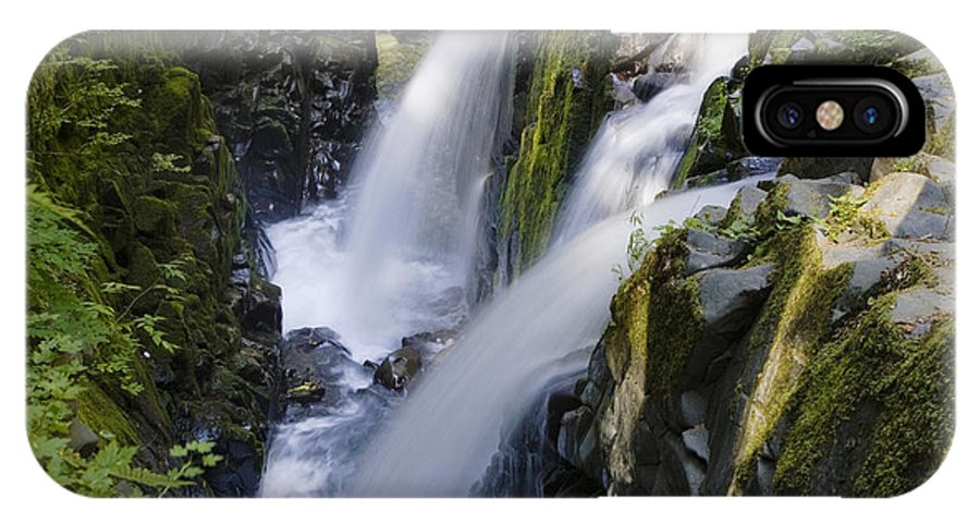 Mp IPhone X Case featuring the photograph Waterfalls Of Sol Duc River, Olympic by Konrad Wothe