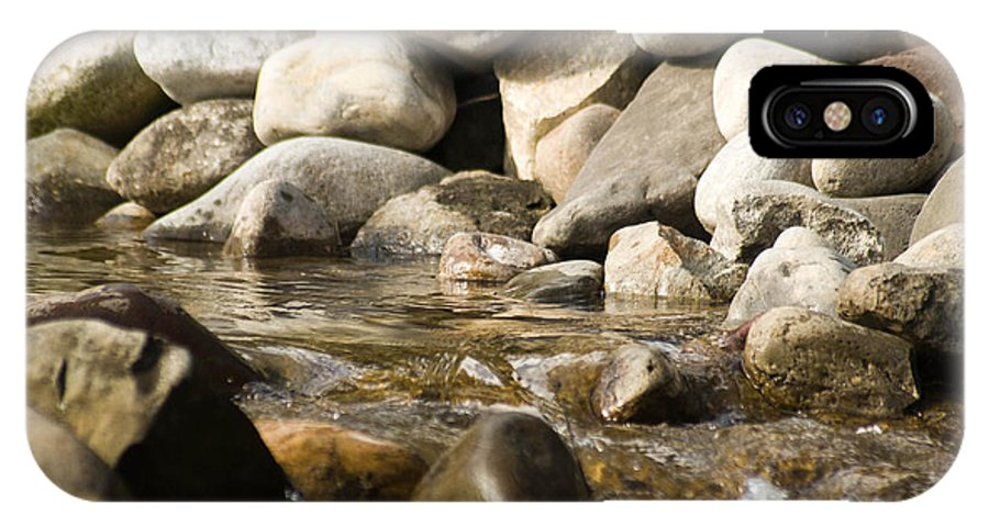 Stone IPhone X Case featuring the photograph Watering Hole by Trish Tritz