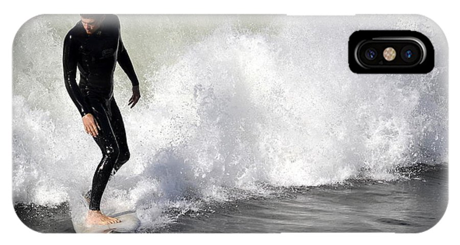 Surfer IPhone X / XS Case featuring the photograph Wave Master by Fraida Gutovich