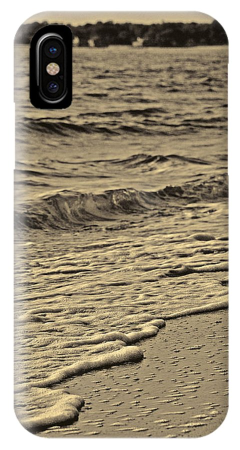 Beach IPhone X Case featuring the photograph Waves At The Beach by Mary Anne Williams