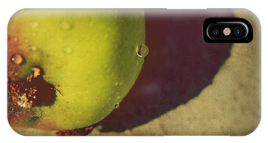 Apples IPhone X Case featuring the photograph We All Fall Down by Laurie Search