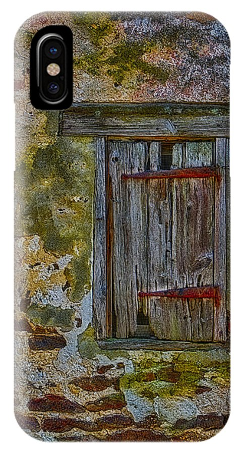 Window IPhone X Case featuring the photograph Weathered Vibrancy by Susan Candelario