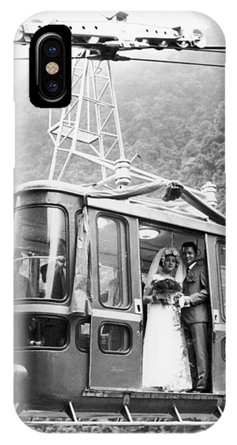 1970 IPhone X / XS Case featuring the photograph Wedding: Cable Car, 1970 by Granger