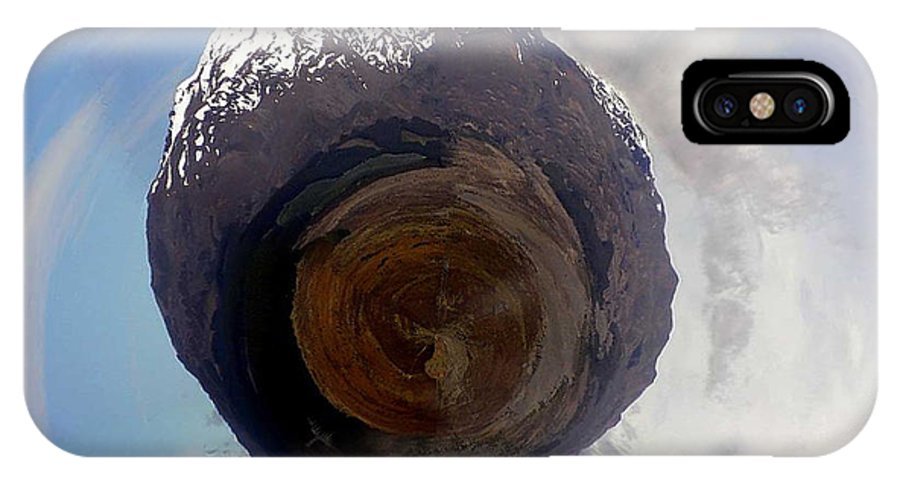 Wee Planet IPhone X Case featuring the photograph Wee Tongariro Volcanoes by Nikki Marie Smith