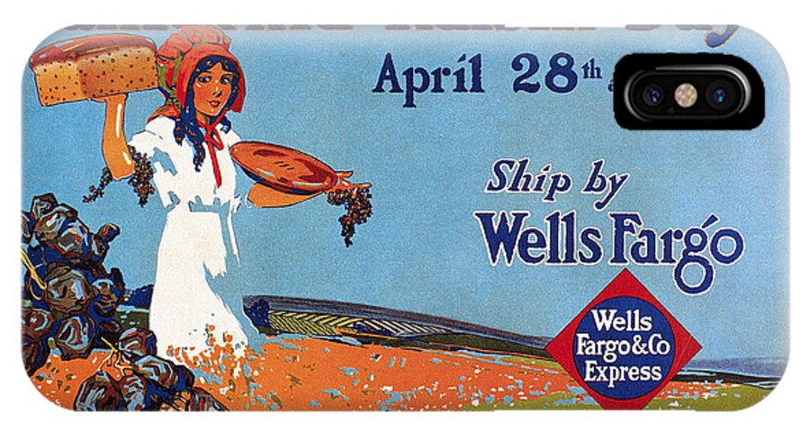 1918 IPhone X Case featuring the drawing Wells Fargo Express, 1918 by Granger