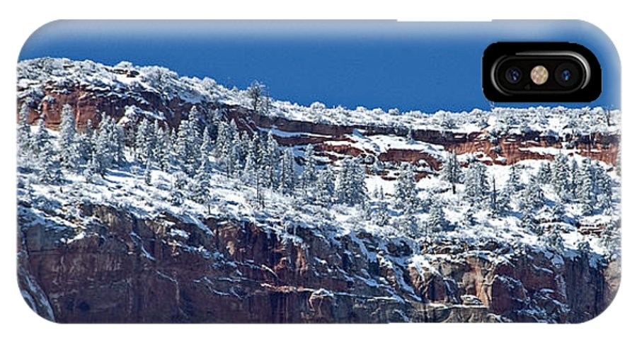 Zion National Park IPhone X Case featuring the photograph West Temple Detail 2 by Bob and Nancy Kendrick