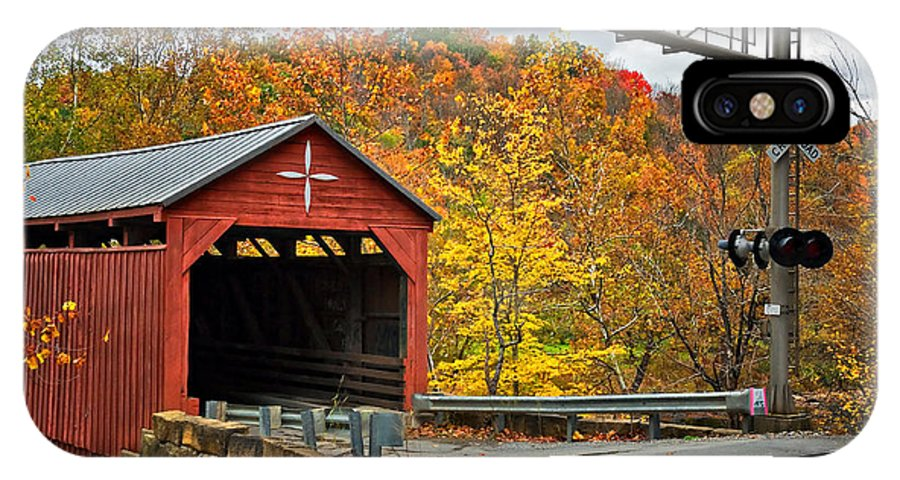 Covered Bridge IPhone X Case featuring the photograph West Virginia Covered Bridge - Carrollton by Kathleen K Parker
