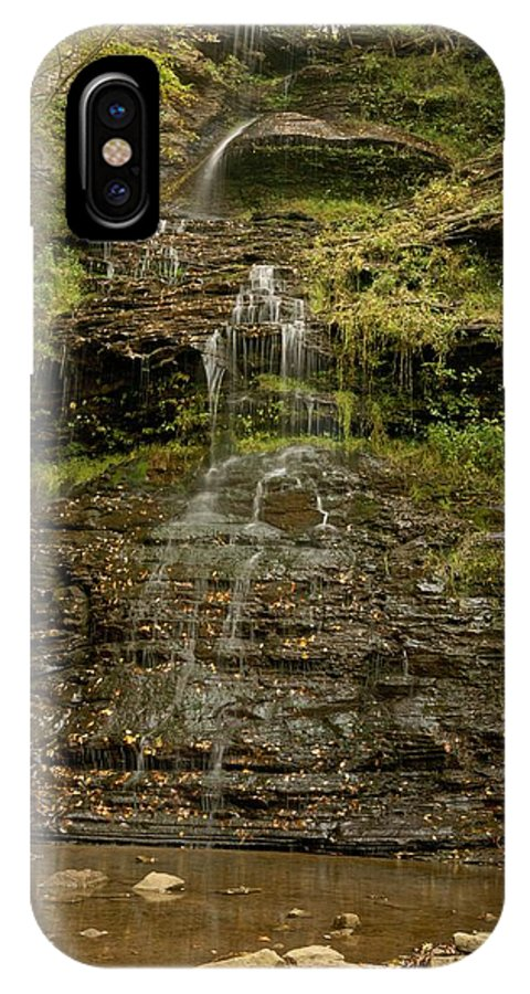 Cathedral Falls IPhone X / XS Case featuring the photograph West Virginia Waterfall by Michael Peychich