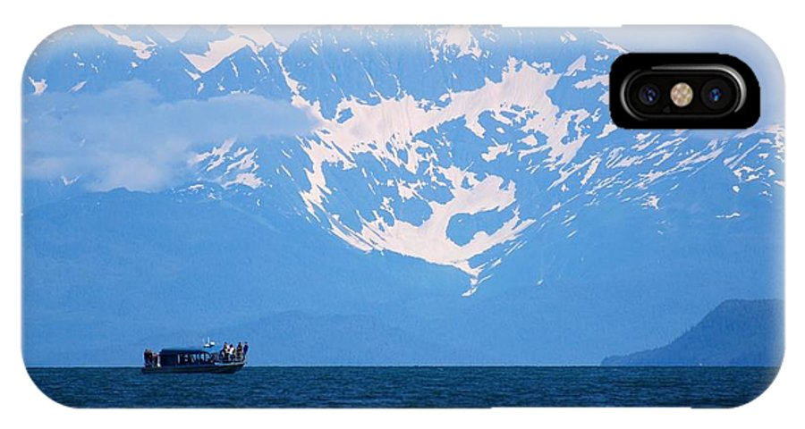 Alaska IPhone X Case featuring the photograph Whale Watchers by Eric Tressler
