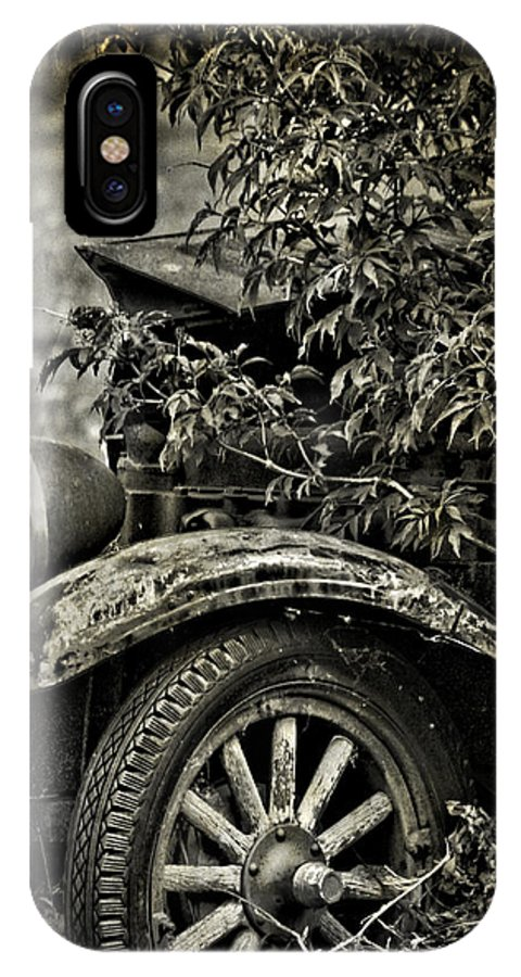 Old Car IPhone X Case featuring the photograph Wheels And Roots by The Artist Project