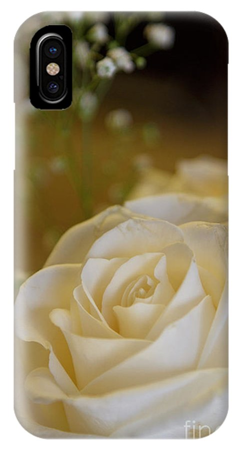 White Rose IPhone X Case featuring the photograph White Rose by Carolyn Fox