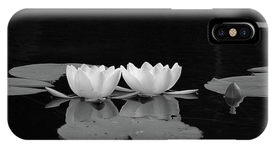 Lehtokukka IPhone X Case featuring the photograph White Water-lily 7 by Jouko Lehto