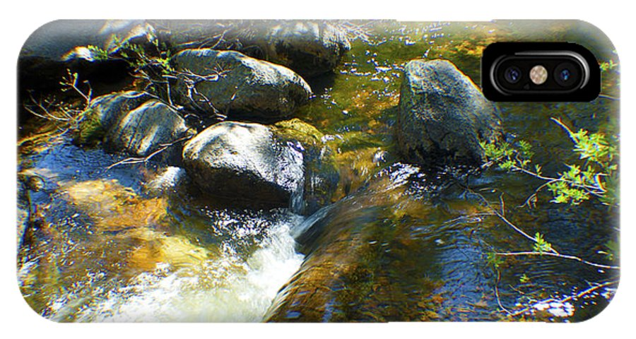 Creek IPhone X Case featuring the photograph White Wolf Creek by M Valeriano