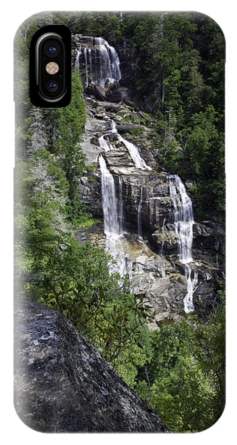 Waterfall IPhone X Case featuring the photograph Whitewater Falls by Rob Travis