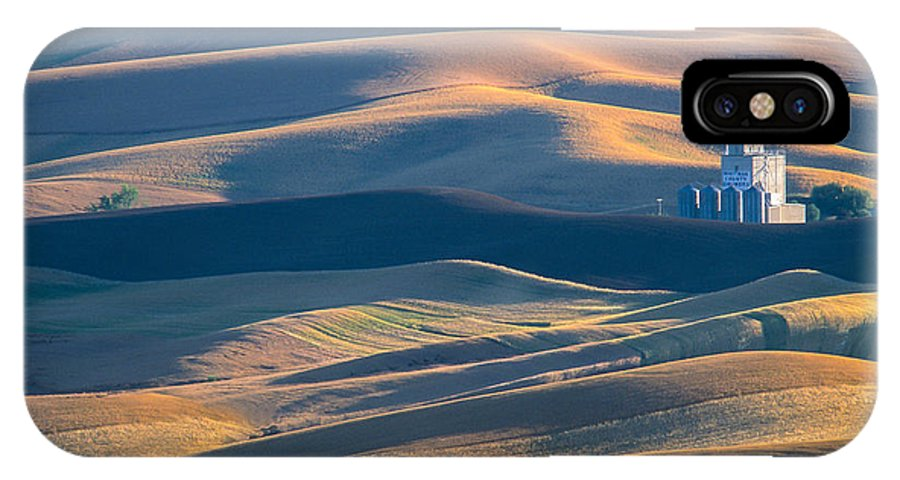Palouse IPhone X Case featuring the photograph Whitman County Grain Silo by Sandra Bronstein