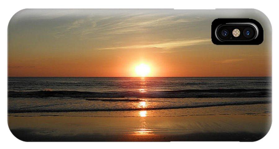 Sunrise IPhone X Case featuring the photograph Wide Open Beauty by Kim Galluzzo Wozniak