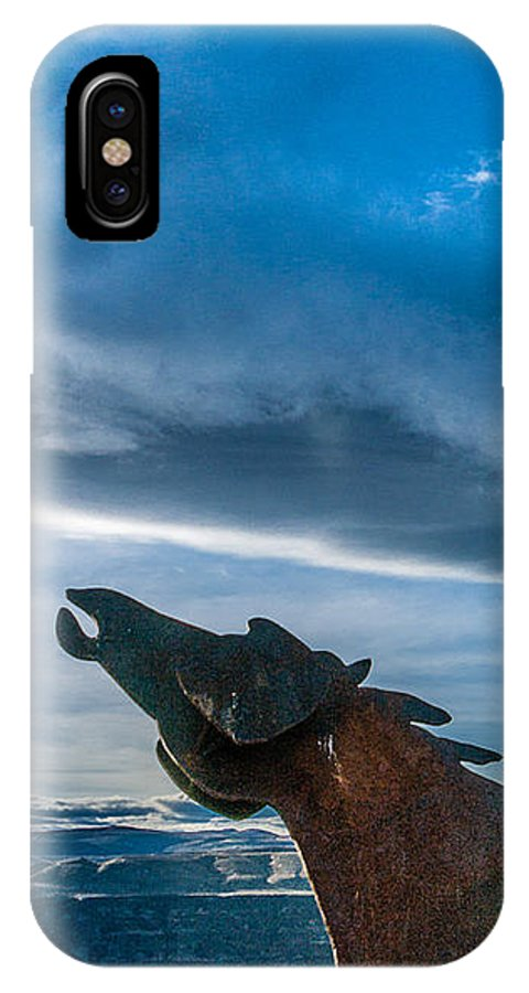 Wild Horses IPhone X Case featuring the photograph Wild Horse Sculpture by Mike Penney