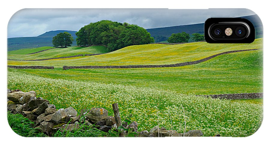 Wildflower IPhone X / XS Case featuring the photograph Wildflower Meadow Near Hawes by Louise Heusinkveld