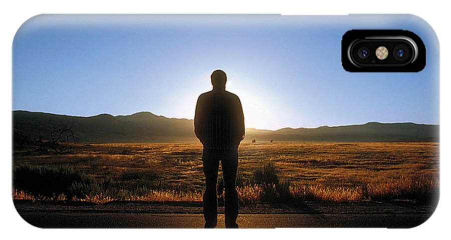 Man IPhone X Case featuring the photograph William Flocken by Mark Greenberg