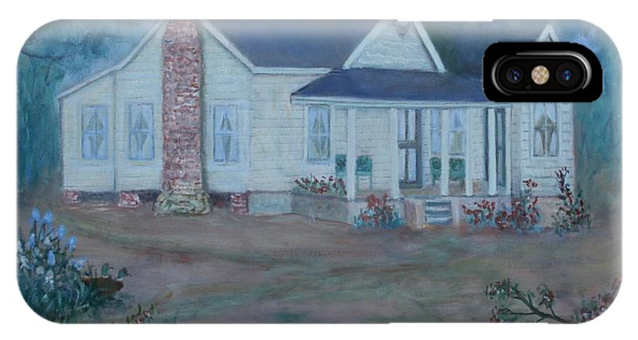 Landscape IPhone X Case featuring the painting Wilson Homestead by Ben Kiger