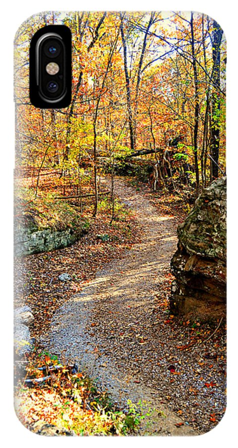Trail IPhone X Case featuring the photograph Winding Trail by Marty Koch