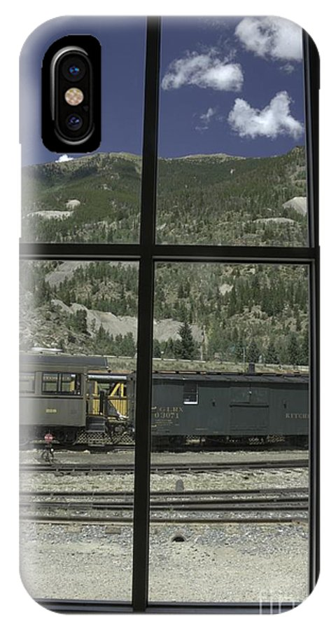 Hdr IPhone X Case featuring the photograph Window To The Rail Yard by David Bearden