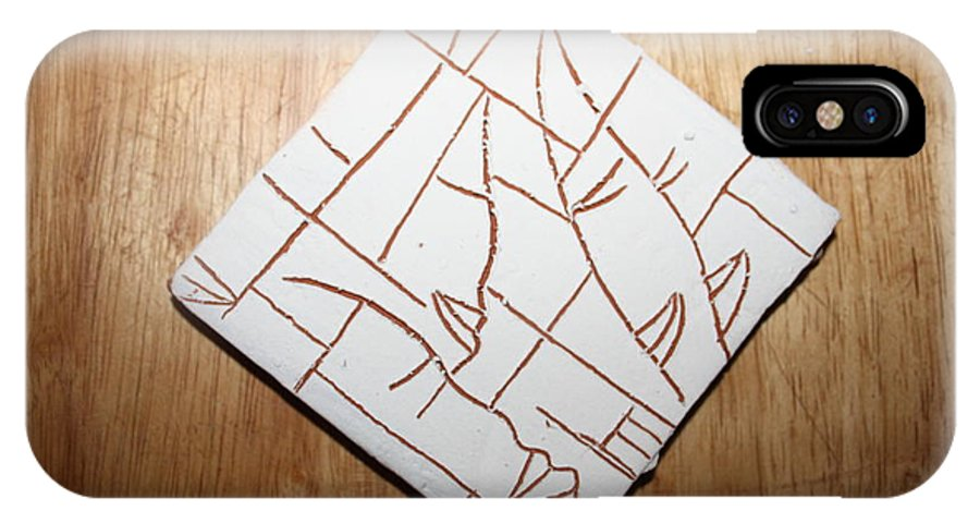 Jesus IPhone X Case featuring the ceramic art Windows - Tile by Gloria Ssali