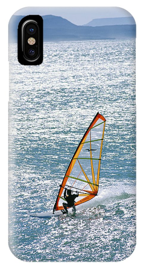 North America IPhone X / XS Case featuring the photograph Windsurfer, Baja, Mexico by Skip Brown