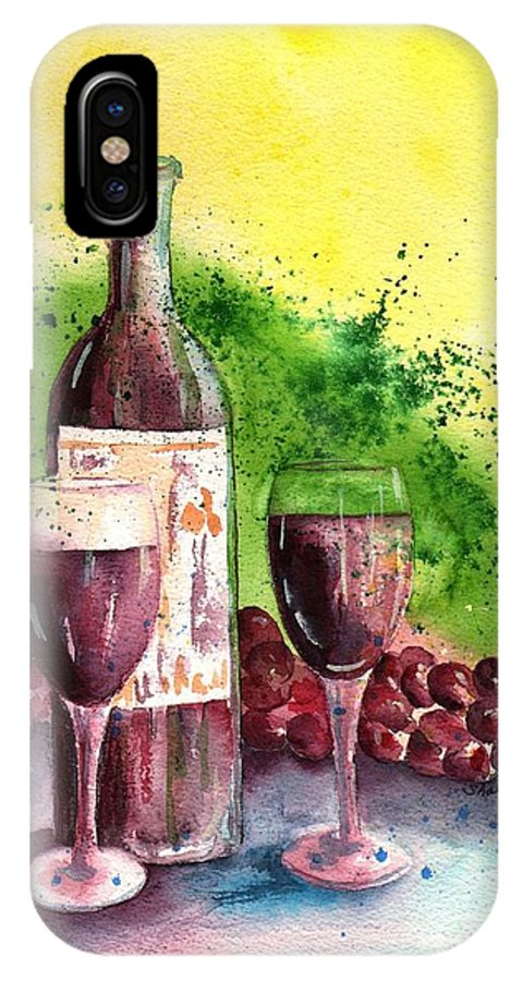 Sharon Mick IPhone X Case featuring the painting Wine For Two - 2 by Sharon Mick
