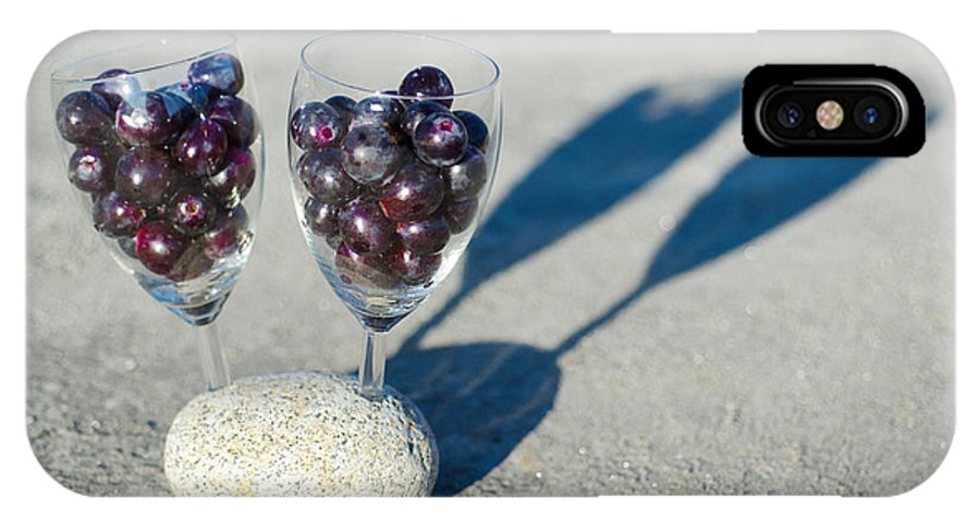 Grapes IPhone X Case featuring the photograph Wine Glass With Grapes by Mats Silvan