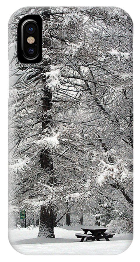 Washington Park IPhone X Case featuring the photograph Winter 0001 by Carol Ann Thomas