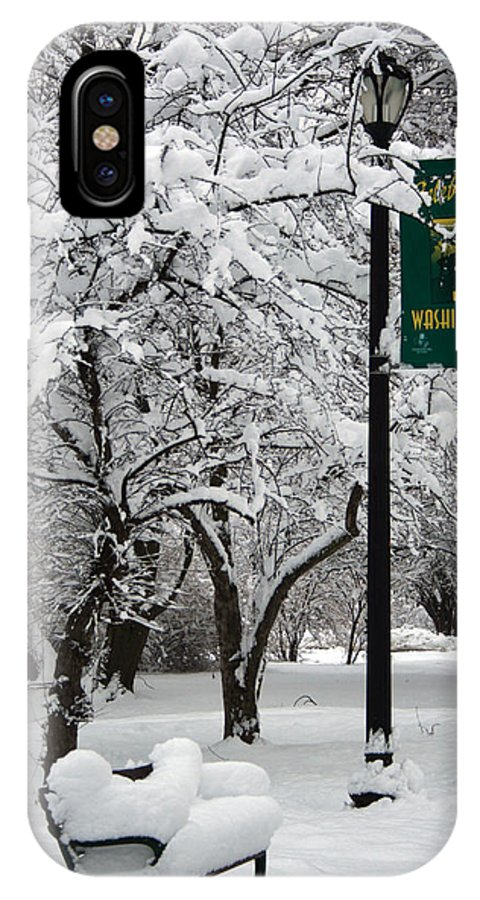 Winter IPhone X Case featuring the photograph Winter 0003 by Carol Ann Thomas