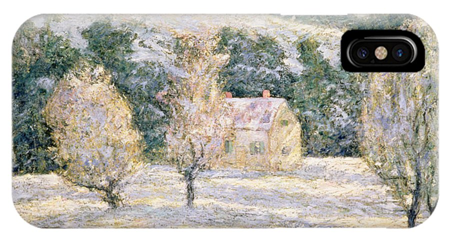Winter IPhone X Case featuring the painting Winter by Ernest Lawson