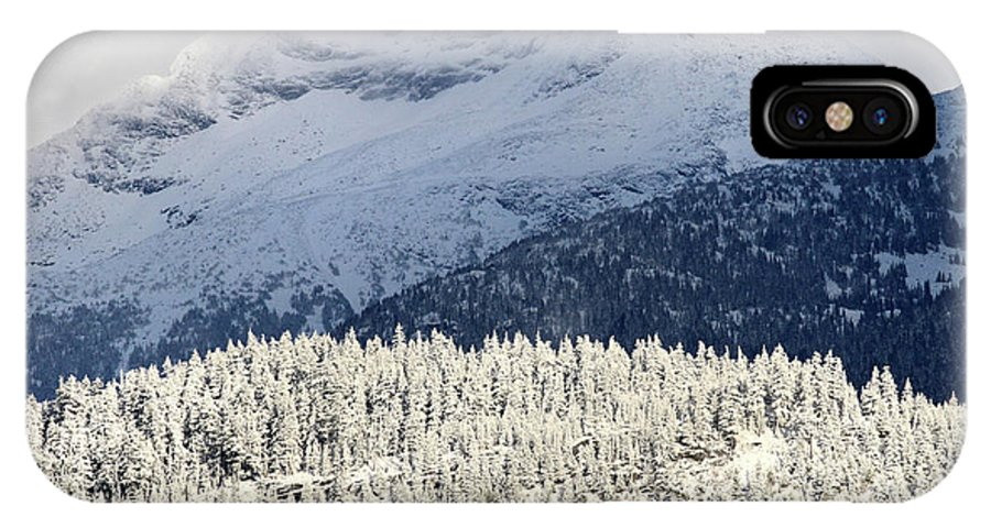 Mountains IPhone X Case featuring the photograph Winter In The Mountains by Pierre Leclerc Photography