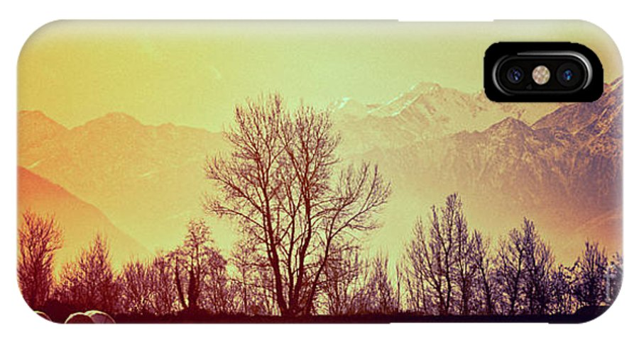 Winter IPhone X Case featuring the photograph Winter Mood by Silvia Ganora
