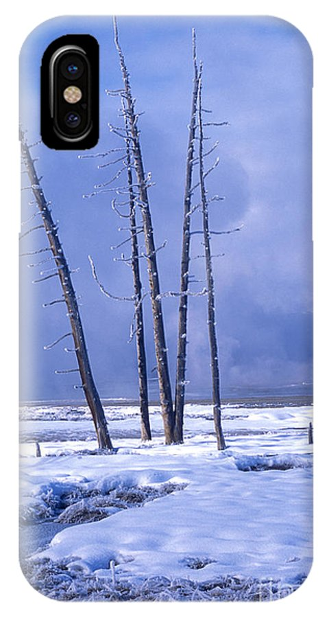 Yellowstone IPhone X Case featuring the photograph Winter by Sandra Bronstein