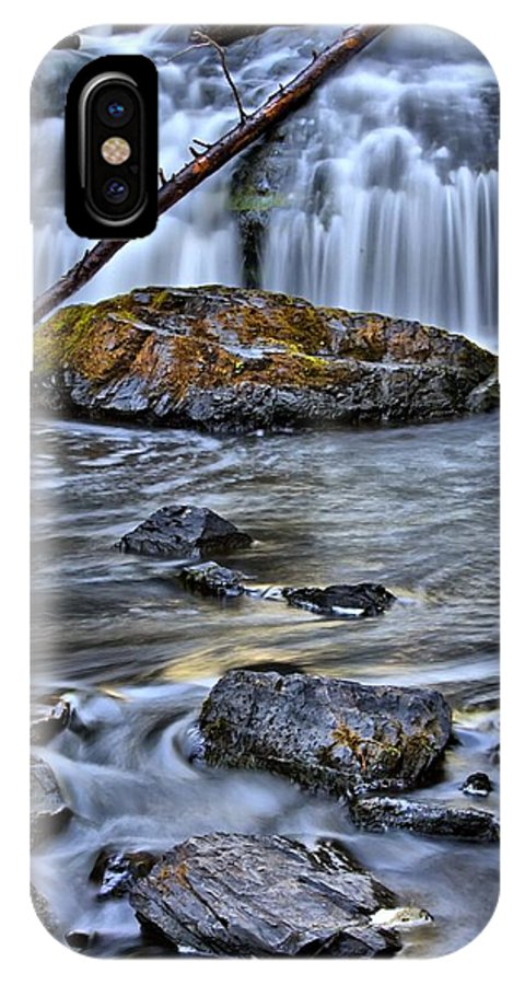 Waterfall IPhone X Case featuring the photograph Wisconsin Waterfall by Sarah Wiggins