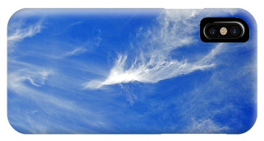 Sky IPhone X Case featuring the photograph Wispy White by Al Powell Photography USA