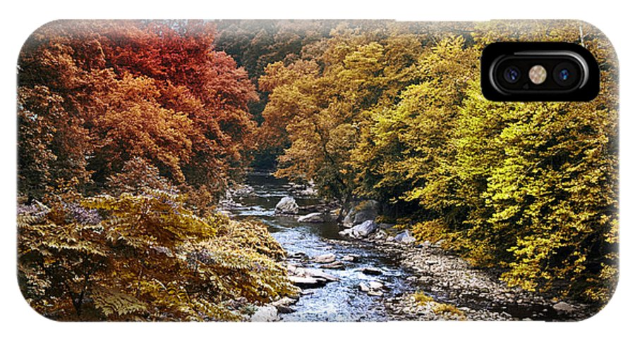 Wissahickon Creek In Fall IPhone X Case featuring the photograph Wissahickon Creek In Fall by Bill Cannon