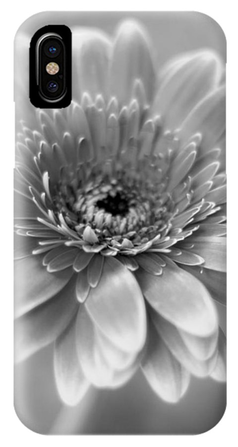 Black And White IPhone X Case featuring the photograph With A Little Luck by Robin Konarz