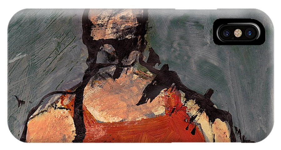 Landscape IPhone X Case featuring the mixed media Woman In Landscape 1 by JC Armbruster