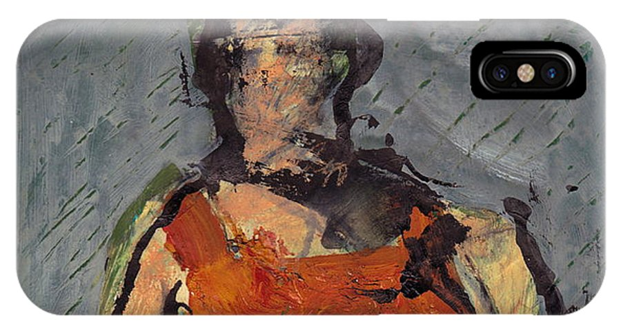 Landscape IPhone X Case featuring the mixed media Woman In Landscape by JC Armbruster