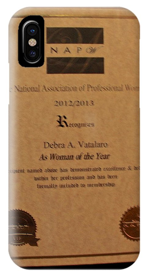 IPhone X / XS Case featuring the photograph Woman Of The Year Award by Debra   Vatalaro
