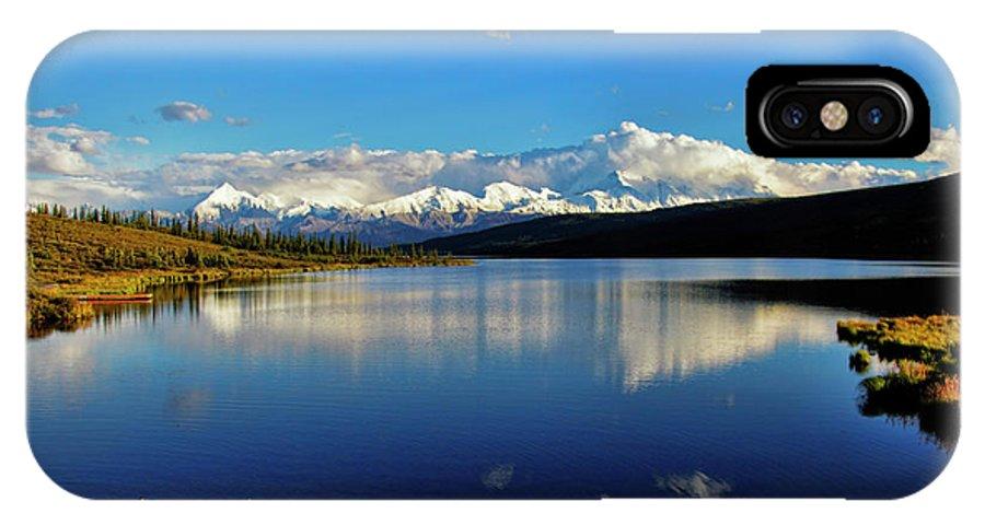 Denali IPhone X Case featuring the photograph Wonder Lake II by Rick Berk
