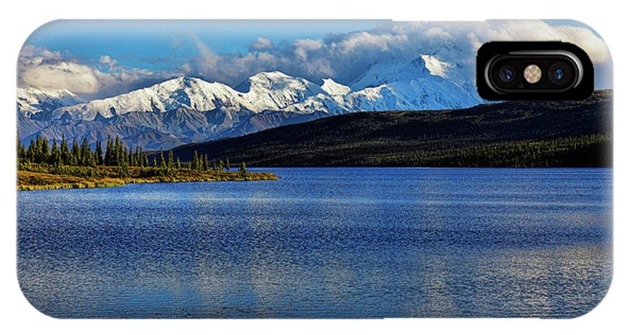 Denali IPhone X Case featuring the photograph Wonder Lake by Rick Berk