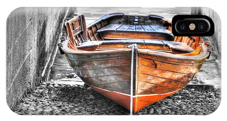 Wood IPhone X Case featuring the photograph Wood Boat by Mats Silvan