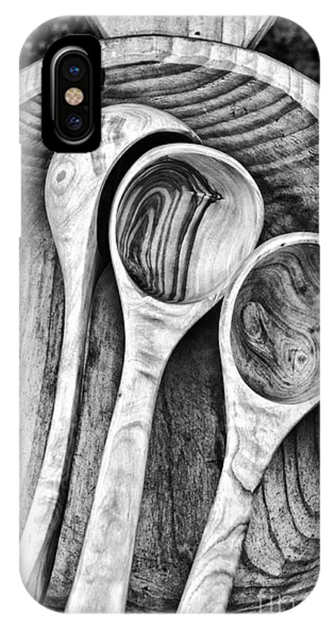 Dipper IPhone X Case featuring the photograph Wooden Ladles by Silvia Ganora