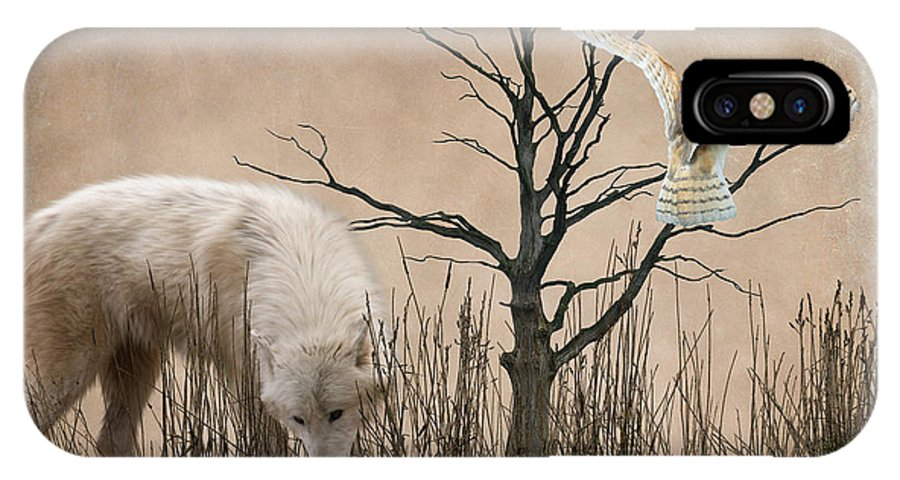 White Wolf IPhone X Case featuring the photograph Woodland Wolf by Sharon Lisa Clarke